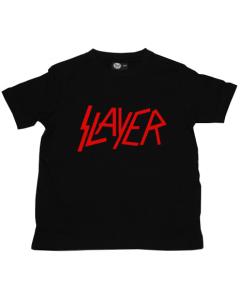 Slayer barn/smabarn T-shirt – Logo röd
