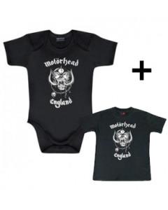 Gåvoset Motörhead body Baby England & Baby T-shirt