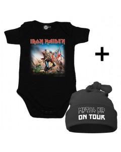 Baby Gåvoset Iron Maiden body Baby/baby & Metal Kid on Tour Hat