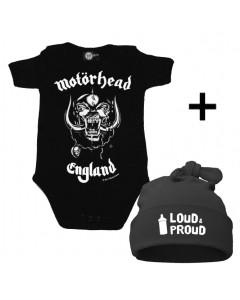 Baby Gåvoset Motörhead body Baby/baby & Loud & Proud Hat