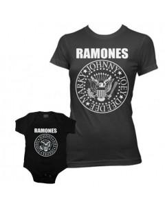 Duo Rockset Ramones mammor's T-shirt & Ramones body Baby