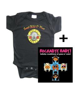 Guns n' Roses body & CD Lullaby Baby CD Gåvoset