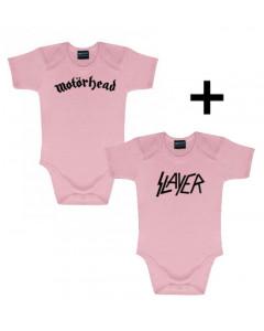 Gåvoset Motörhead Baby body & Slayer body rosa