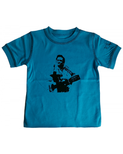 Johnny Cash barn/smabarn T-shirt blå - t-shirt eco