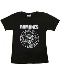 Ramones barn/smabarn T-shirt - t-shirt Logo vit
